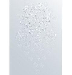 snowflakes background Eps10 vector image