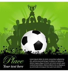 Soccer Winning team vector image