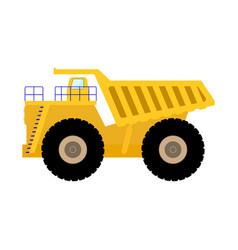 cartoon big heavy dump truck vector image