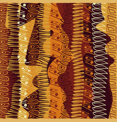 Hand-drawn abstract pattern in african style vector