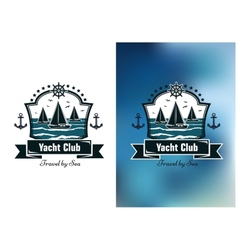 Yacht club emblems vector image