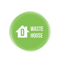 zero waste house concept icon design element vector image vector image
