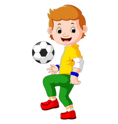 cartoon male soccer player vector image