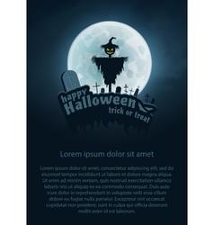Happy Halloween Flyer vector image