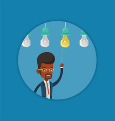 man having business idea vector image