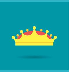 medieval royal golden king crown diadem tiara vector image