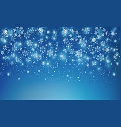 abstract christmas snowflakes vector image