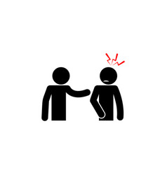 Aphenphosmphobia touch icon on white background vector