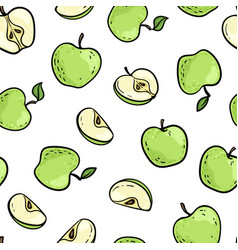 beautiful seamless doodle pattern with cute vector image