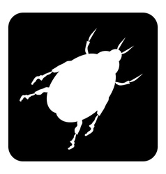 Beetle button vector image