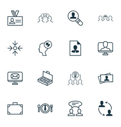 Business icons set collection of dialogue online vector