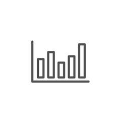 column chart line icon financial graph vector image
