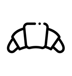 Croissant delicious snack icon thin line vector