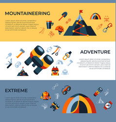 digital mountaineering technology icons vector image