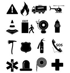 Emergency icons set vector