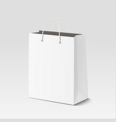 Empty shopping paper bag for advertising vector