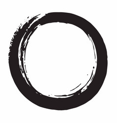 enso japanese zen circle brush vector image