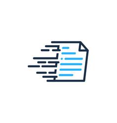 fast document logo icon design vector image