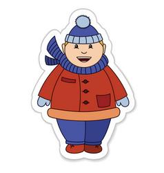 Fat boy winter vector