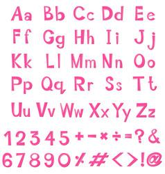 font design in pink color vector image