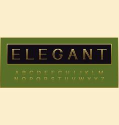 golden elegant alphabet beauty deluxe font vector image