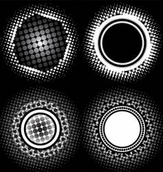 halftone circle patterns vector image
