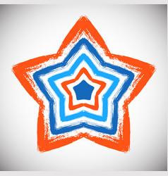 Hand drawn star vector