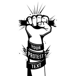 Hand power protest poster vector