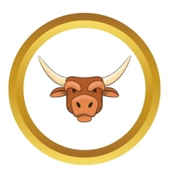 Head of bull icon vector image