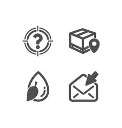 Headhunter water drop and parcel tracking icons vector