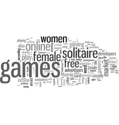 Increase in female solitaire gamers vector