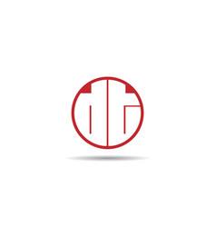 Initial letter dt logo template design vector