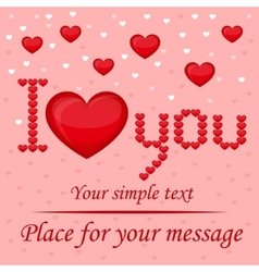 Inscription I love you vector image