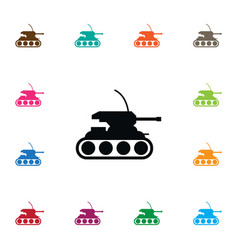 isolated tank icon army element can be vector image
