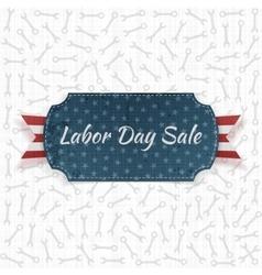 Labor Day Sale festive paper Label vector