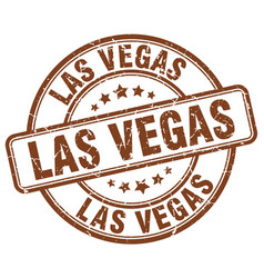 Las vegas brown grunge round vintage rubber stamp vector