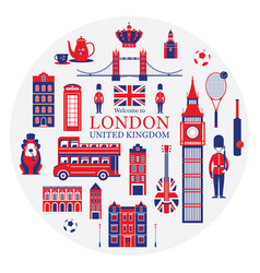 London england and united kingdom tourist vector
