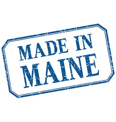 Maine - made in blue vintage isolated label vector