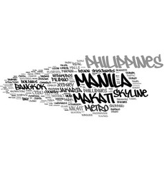 Manila word cloud concept vector