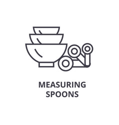 Measuring spoons line icon outline sign linear vector
