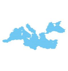 Mediterranean sea map full of fish vector