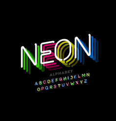 neon light style font vector image