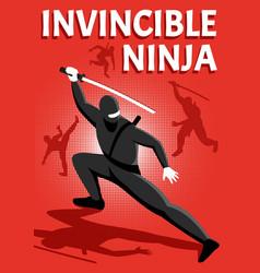 ninja isometric poster vector image