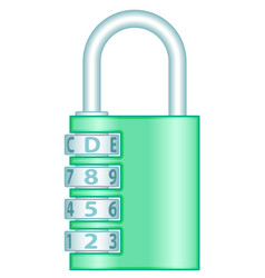 number lock vector image