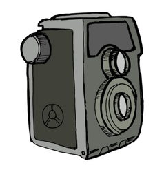 Old camera vector image