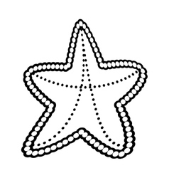Outline sea starfish concept vacation beach vector