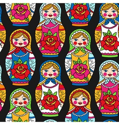 Pattern dolls vector
