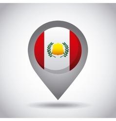 Peru flag pin vector