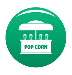 Pop corn selling icon green vector