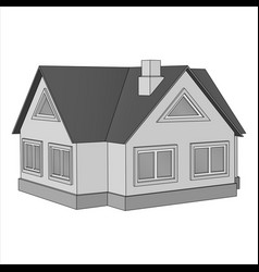 private cottage flat icon vector image